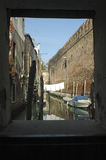 其中一条威尼斯运河  库存图片