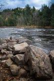 其中一条魁北克河 库存照片