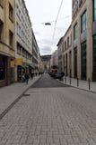 其中一条购物街道在历史中心 斯图加特 库存图片