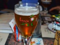 其中一著名啤酒厂啤酒在客栈在跟特, 2017年11月5日的比利时 图库摄影