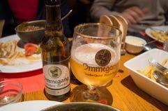 其中一著名啤酒厂啤酒在客栈在跟特, 2017年11月5日的比利时 库存照片