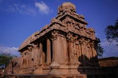 其中一Pallava国王的古老建筑奇迹 图库摄影