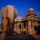 其中一Pallava国王的古老建筑奇迹 免版税库存图片