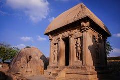 其中一Pallava国王的古老建筑奇迹 免版税图库摄影