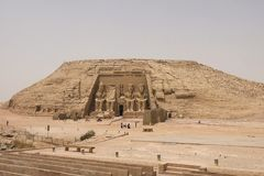 其他埃及的雕象 寺庙纪念碑巨石 免版税图库摄影