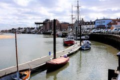 其次维尔斯海,诺福克,英国 免版税图库摄影