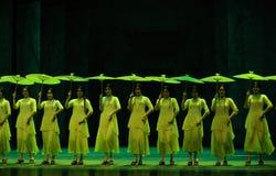 其次绿色年这舞蹈过去的戏曲沙湾事件行动  免版税库存图片