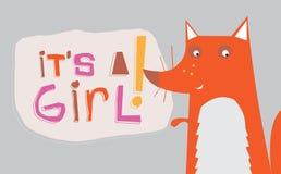 其狐狸女孩 库存照片