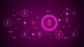 具体化女性雇员电话中心象 从具体化集合 向量例证