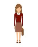 具体化妇女动画片 图库摄影