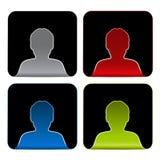 具体化象,贴纸-人,用户,成员 库存例证