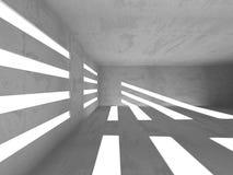 具体建筑学背景 抽象空的暗室 库存图片
