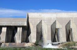具体水坝建筑学在国家公园 库存照片