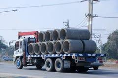 具体管子的卡车Piboon混凝土 免版税库存照片