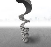 具体螺旋形楼梯 免版税图库摄影