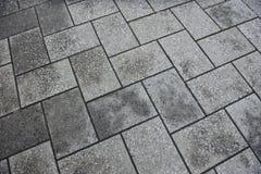 具体铺磁砖的路面背景 库存照片