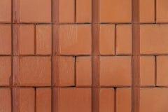 具体水泥砖墙背景纹理 免版税图库摄影