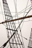 索具和帆柱 库存照片