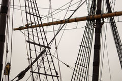 索具和帆柱 免版税库存图片