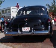 经典之作恢复了1949黑卡迪拉克 库存图片