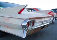 经典之作1961年卡迪拉克汽车 免版税库存照片