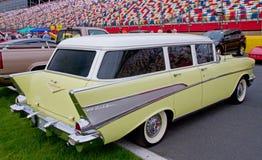 经典之作1957年雪佛兰小型客车 库存照片