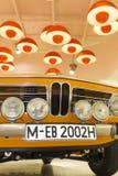 经典之作1968 BMW 2002年钛被显示在BMW博物馆在慕尼黑 库存图片
