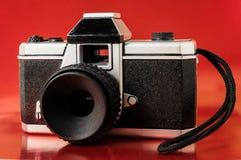 经典之作35mm塑料玩具照片照相机 库存图片