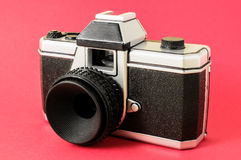 经典之作35mm塑料玩具照片照相机 免版税库存图片