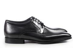 经典典雅的对黑人的鞋子 免版税库存图片