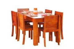 经典典雅的餐桌集合 免版税库存照片