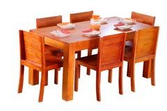 经典典雅的餐桌集合 免版税图库摄影