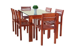 经典典雅的餐桌集合 免版税库存图片