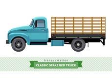 经典利益床卡车侧视图 免版税库存照片