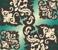 经典原始的皇家锦缎装饰品 免版税库存图片