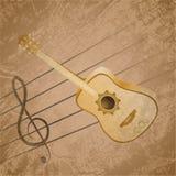 经典吉他背景题材 免版税库存照片