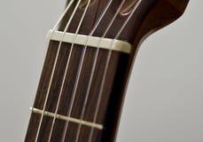 经典吉他脖子 免版税图库摄影