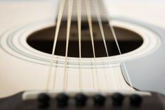 经典吉他细节特写镜头  库存图片