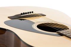 经典吉他细节特写镜头  库存照片