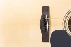 经典吉他细节特写镜头  免版税库存照片