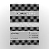 经典名片模板 免版税库存照片