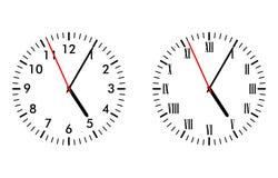 经典和古色古香的时钟表盘 库存图片
