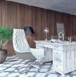 经典和现代家庭办公室设计 图库摄影