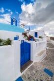 经典圣托里尼场面,希腊 免版税库存图片