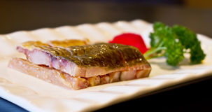 典型中国鱼食物的烟 库存图片