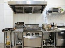 典型厨房的餐馆 免版税库存图片