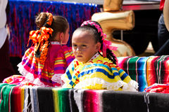 典型地加工好的墨西哥女孩 免版税图库摄影
