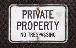 典型忠告意大利的私有财产 图库摄影