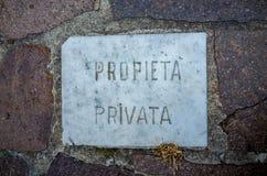 典型忠告意大利的私有财产 免版税库存图片