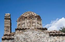 典型教会希腊希腊ia海岛的santorini 图库摄影